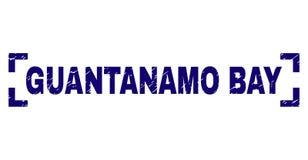 Joint texturisé grunge de timbre de GUANTANAMO BAY entre les coins illustration stock