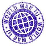 Joint texturisé grunge de timbre de la GUERRE MONDIALE III illustration de vecteur