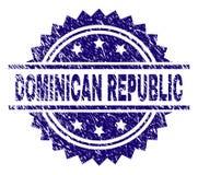 Joint texturisé grunge de timbre de la RÉPUBLIQUE DOMINICAINE  illustration stock