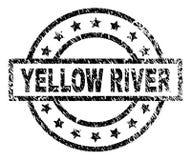 Joint texturisé grunge de timbre de la RIVIÈRE YELLOW illustration stock