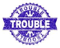Joint texturisé grunge de timbre de PROBLÈME avec le ruban illustration stock
