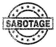 Joint texturisé grunge de timbre de SABOTAGE illustration stock