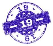 Joint texturisé grunge de 19 timbres illustration stock