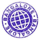 Joint texturisé rayé de timbre de BANGALORE illustration de vecteur