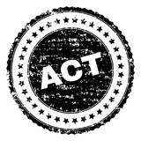 Joint texturisé rayé de timbre d'ACTE illustration stock