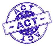 Joint texturisé rayé de timbre d'ACTE illustration libre de droits