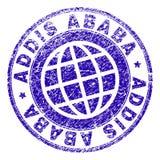 Joint texturisé rayé de timbre d'ADDIS ABABA Illustration Stock