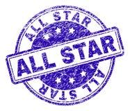 Joint texturisé rayé de timbre d'ALL STAR illustration libre de droits