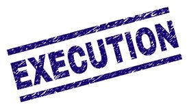 Joint texturisé rayé de timbre d'EXÉCUTION illustration de vecteur