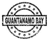Joint texturisé rayé de timbre de GUANTANAMO BAY illustration stock