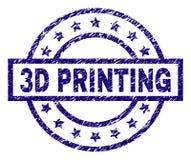 Joint texturisé rayé de timbre de l'IMPRESSION 3D illustration libre de droits