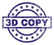 Joint texturisé rayé de timbre de la COPIE 3D illustration stock