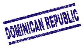 Joint texturisé rayé de timbre de la RÉPUBLIQUE DOMINICAINE  illustration libre de droits