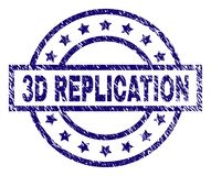 Joint texturisé rayé de timbre de la REPRODUCTION 3D illustration de vecteur