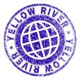 Joint texturisé rayé de timbre de la RIVIÈRE YELLOW illustration de vecteur