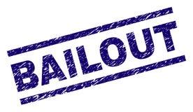Joint texturisé rayé de timbre de RENFLOUEMENT illustration stock