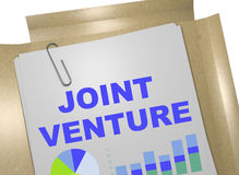 Joint Venture - business concept. 3D illustration of JOINT VENTURE title on business document Royalty Free Stock Photo