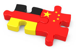 Joint venture. 3d generated picture of a joint venture concept between germany and china vector illustration