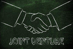 Joint venture, hands shaking design Royalty Free Stock Image