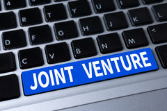 JOINT VENTURE. A message on keyboard Stock Photo