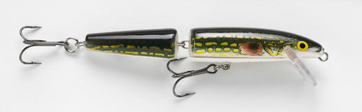 Jointed fishing lure Stock Images