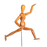 Jointed wooden man figure Royalty Free Stock Images