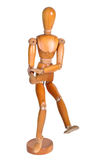Jointed wooden man figure Stock Images