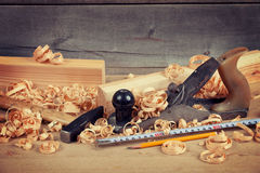 Jointer and tools Royalty Free Stock Photography