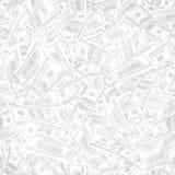 Jointless textur av blyertspennateckningen av dollar som ett symbol av pr Arkivbilder
