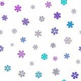 Jointless textuur van verschillende sneeuwvlokken op witte achtergrond Royalty-vrije Stock Foto