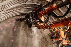 Jointoiement de piperoof de tunnel photographie stock