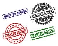 Joints ACCORDÉS texturisés rayés de timbre d'ACCESS Illustration Stock