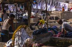 Joints chez le Dhobi Ghat dans Mumbai Images libres de droits