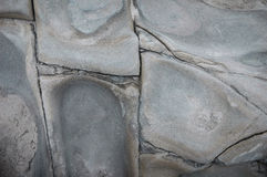 Joints and cleavage of tofu marble rock exposures near Taitung, Taiwan Stock Photo