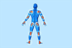 Joints pain - trauma. 3D image joints pain - trauma royalty free illustration