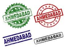 Joints texturisés endommagés de timbre d'AHMEDABAD Illustration Stock