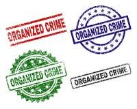 Joints texturisés grunges de timbre de CRIMINALITÉ ORGANISÉE illustration libre de droits