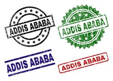 Joints texturisés rayés de timbre d'ADDIS ABABA Illustration Stock