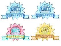 Joints tirés par la main de dos d'argent et de garantie de satisfaction illustration stock