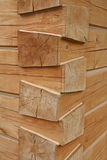 Joints of wooden beams Royalty Free Stock Image