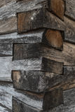 Joints of wooden beams Stock Photo