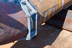 Jointure du tuyau et du débouché en métal grand diamètre de 90 degrés Photographie stock