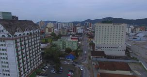 Joinville City Food Route and Hotel Tannenhof. stock video footage
