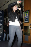Jojo performing live. Jojo performing live at the Timbaland Shock Value II CD premiere show at Hard Rock Cafe at CityWalk on December 17 2009 Royalty Free Stock Photos