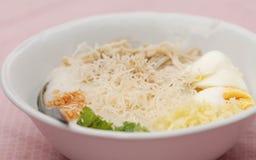 Jok Kai (Thai Chicken Porridge). It is famous food among Thai Stock Photography