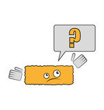 Joke brick have a question why he is rectangle. Vector illustration Royalty Free Stock Photography