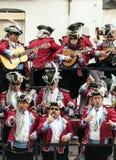 Joke of Cadiz. Men and women are dressed singing, picture taken at Cadiz Carnival 2014 Stock Photos