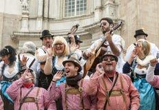 Joke of Cadiz. Men and women are dressed singing, picture taken at Cadiz Carnival 2014 Royalty Free Stock Photos