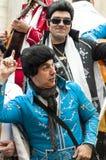 Joke of Cadiz. Men and women are dressed singing, picture taken at Cadiz Carnival 2014 Royalty Free Stock Photography
