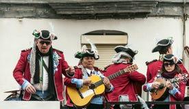 Joke of Cadiz. Men and women are dressed singing, picture taken at Cadiz Carnival 2014 Stock Image